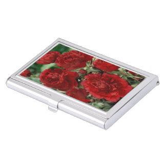 Red Carnation Flowers Business Card Holder