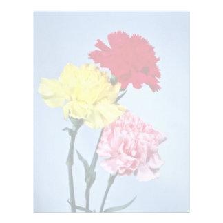 Red Carnation study on white flowers Letterhead