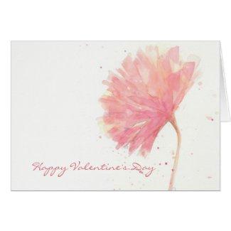Red Carnation Valentine Card
