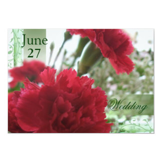 Red Carnations 7 Card