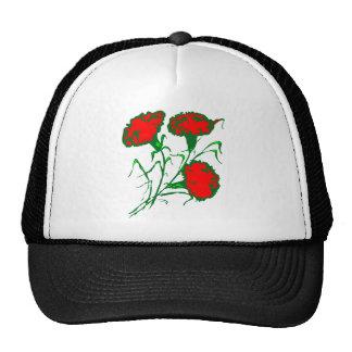 red carnations trucker hat