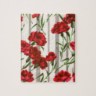 red carnations in the wild puzzle