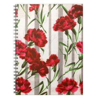 red carnations in the wild spiral notebook