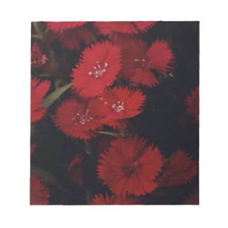 red carnations notepad