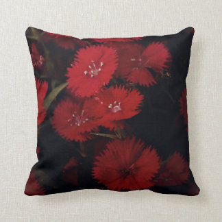 Red carnations throw pillow