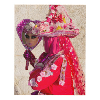 Red Carnival Costume, Venice Panel Wall Art