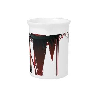 Red Carnival Vampire Eyes Beverage Pitcher