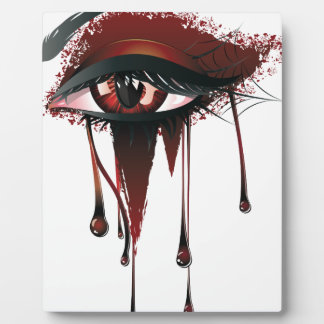 Red Carnival Vampire Eyes Plaque