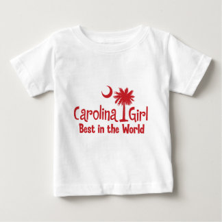 Red Carolina Girl Best in the World Baby T-Shirt