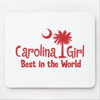 Red Carolina Girl Best in the World Mouse Pad