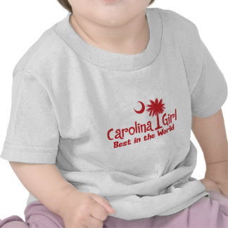 Red Carolina Girl Best in the World T Shirts