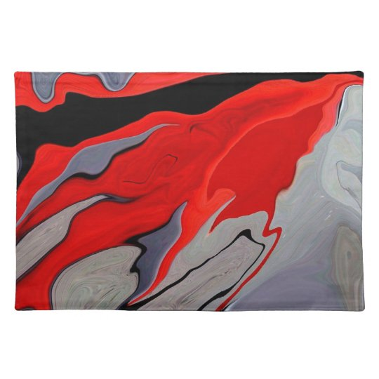 """""""Red Carpet Abstract"""" placemat"""