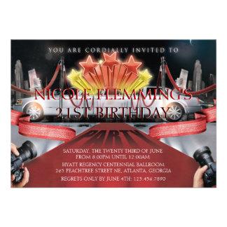 Red Carpet Birthday Invitation