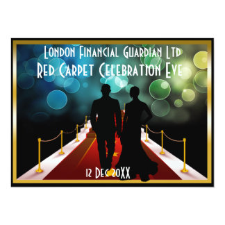 red carpet black tie vip event invitation