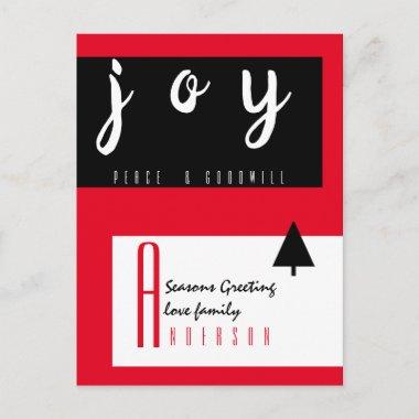 Red Carpet by LeahG - Seasonal Greetings Chic Postcard