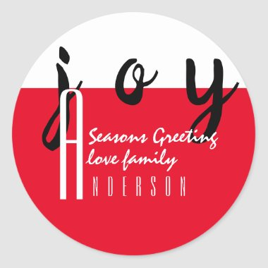 Red Carpet by LeahG Seasons Greetings Gift Favor Classic Round Sticker