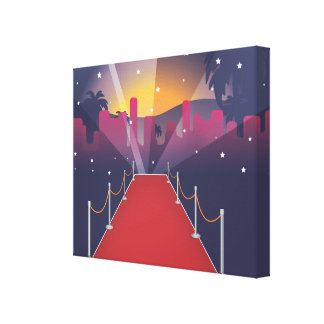 Red Carpet Celebrity Canvas Print