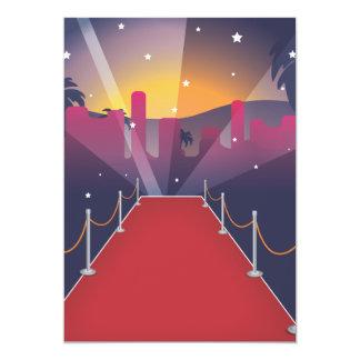Red Carpet Celebrity cartoon Card