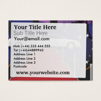 Red Carpet Celebrity Limo Business Card