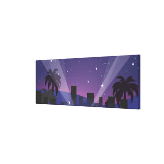 Red Carpet Celebrity Limo Canvas Print