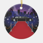 Red Carpet Celebrity Limo Christmas Tree Ornaments