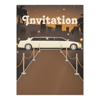 Red Carpet Celebrity Limo Classic 6.5x8.75 Paper Invitation Card