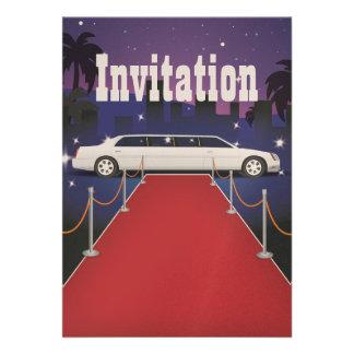 Red Carpet Celebrity Limo Custom Invites