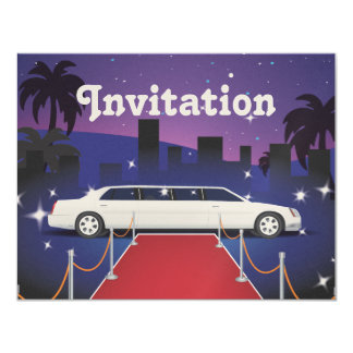 Red Carpet Celebrity Limo 4.25x5.5 Paper Invitation Card