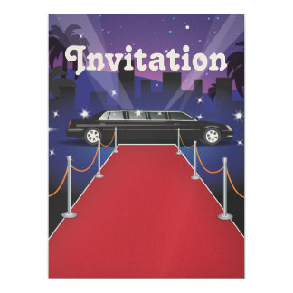 Red Carpet Celebrity Limo 6.5x8.75 Paper Invitation Card