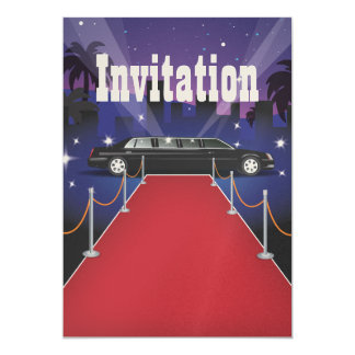 Red Carpet Celebrity Limo 5x7 Paper Invitation Card