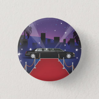 Red Carpet Celebrity Limo Pinback Button