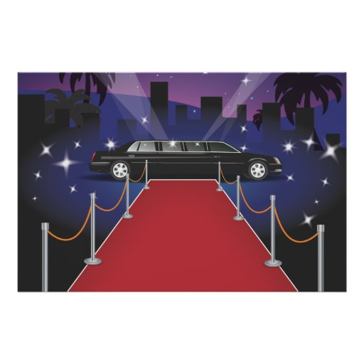 Red Carpet Celebrity Limo Posters Zazzle