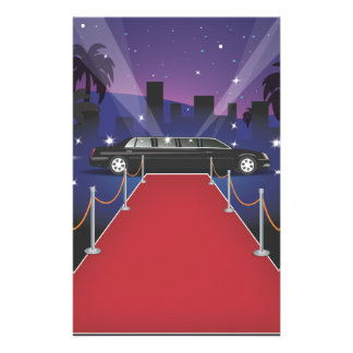 Red Carpet Celebrity Limo Personalized Stationery