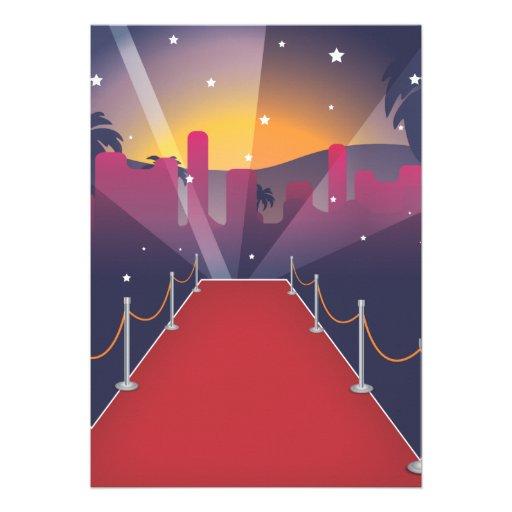 Red Carpet Celebrity Personalized Invitation