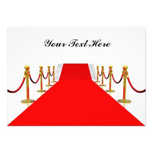 Red Carpet Customizable Blank Back 5x7 Paper Invitation Card Zazzle