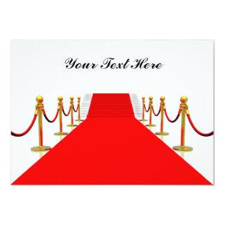 Red Carpet Customizable Blank Back Card