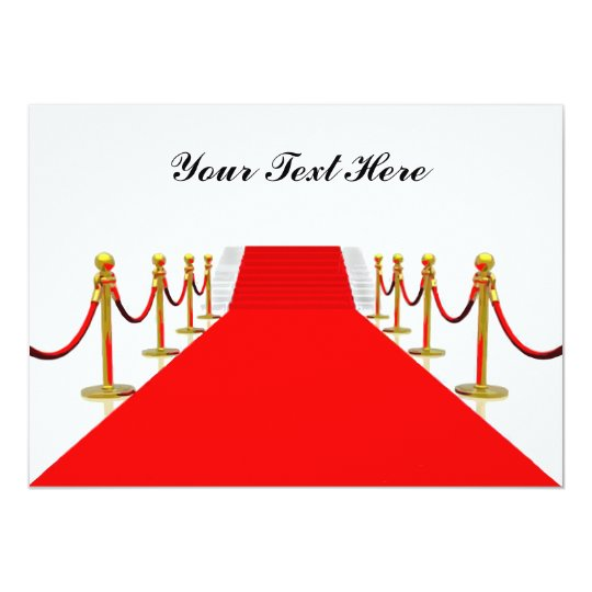Red Carpet Customizable Blank Back Card