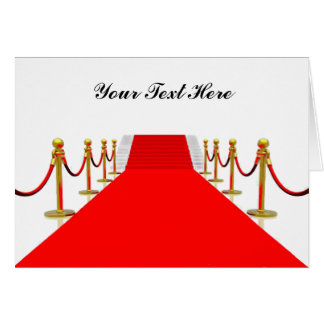 Red Carpet Customizable Greeting Card