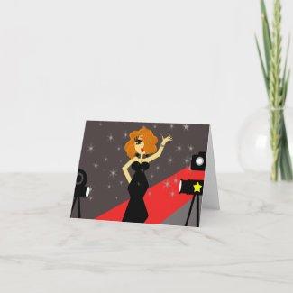 Red Carpet Diva Notecard card