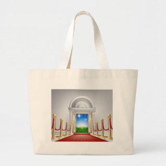 Red carpet door to your future canvas bags
