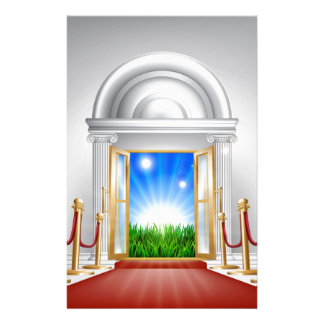Red carpet door to your future stationery design