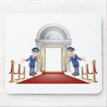 Red carpet entrance mouse pad