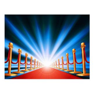 Red carpet entrance postcards