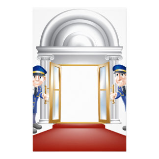 Red carpet entrance personalized stationery