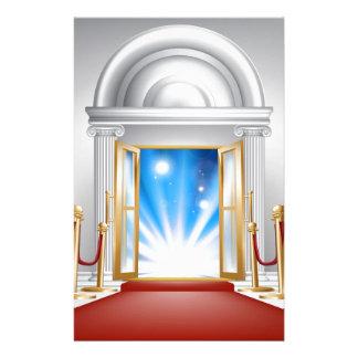 Red carpet entrance customised stationery