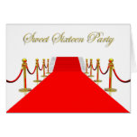 Red Carpet Event Sweet 16 Party Greeting Card