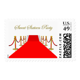 Red Carpet Event Sweet 16 Party Stamps