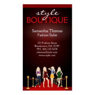 Red Carpet Fashion Boutique Business Card Template Business Card Templates
