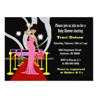 Red carpet Hollywood Baby Shower Invite boy