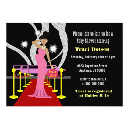 Red Carpet Hollywood Baby Shower Invite Boy Zazzle